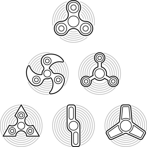 coloring pages for fidget spinners | Fidget Spinner Clip Art, Vector Images & Illustrations ...