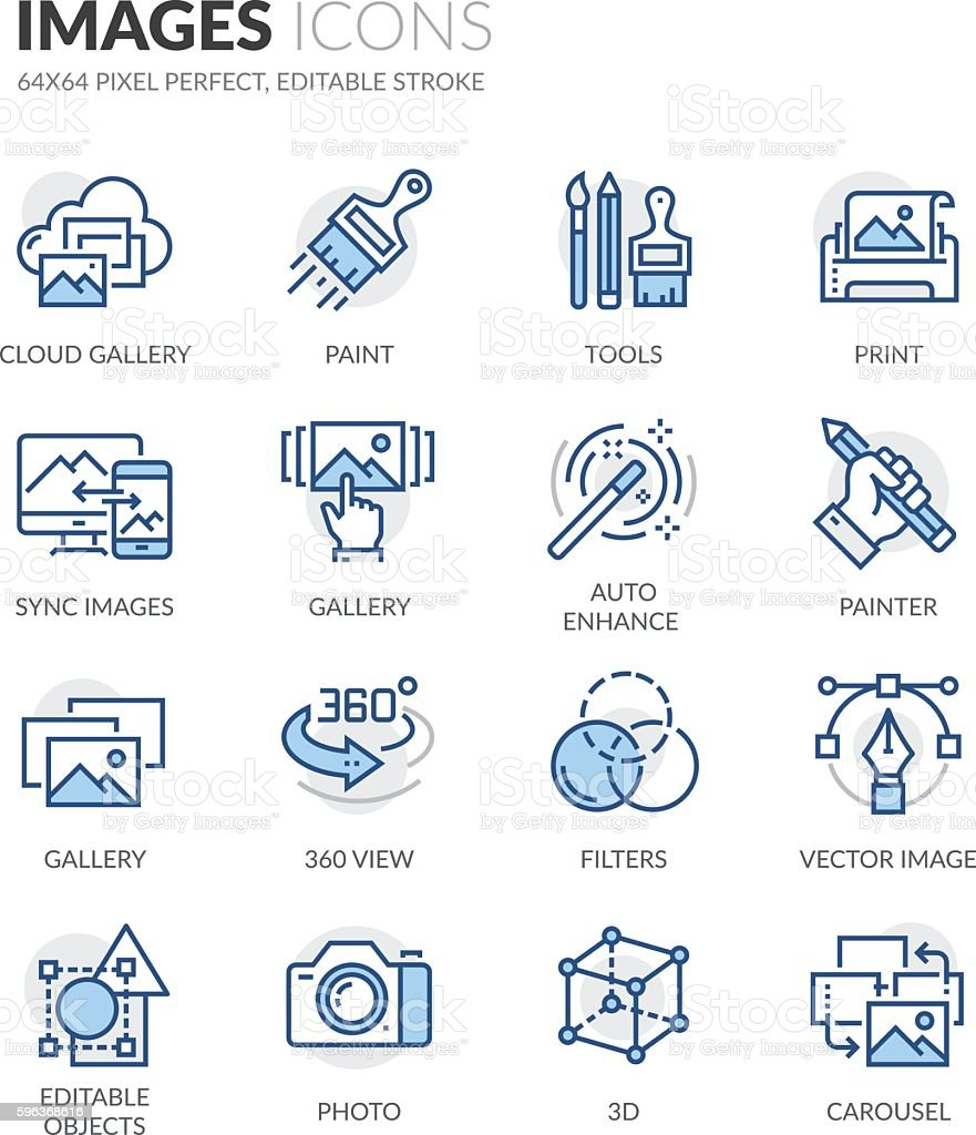 Line Images Icons vector art illustration