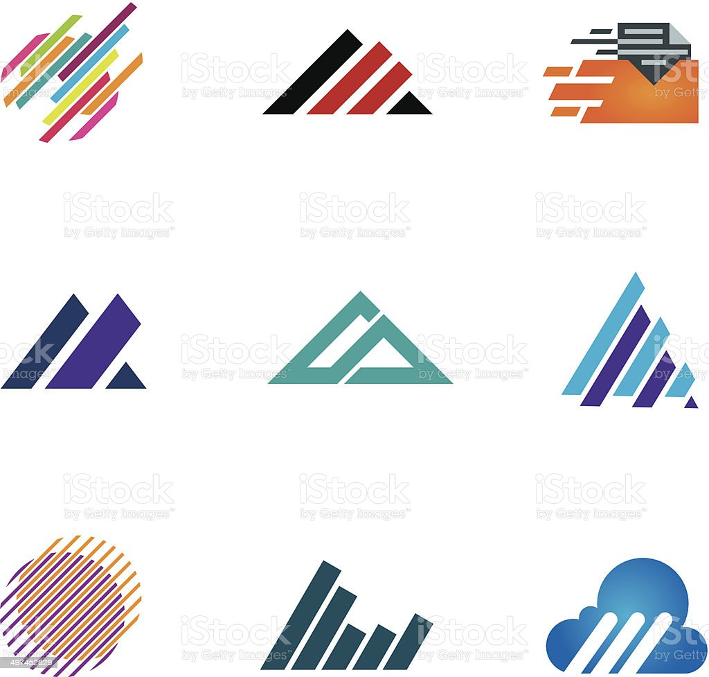 Line inspiration professional design symbol fast triangle logo speed icons vector art illustration