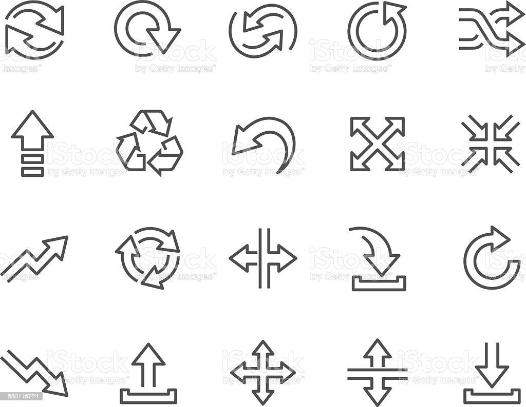 Line Interface Arrows Icons vector art illustration
