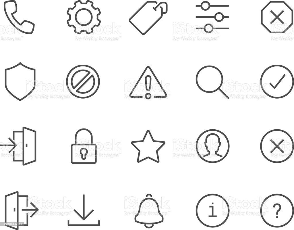 Line Interface Icons vector art illustration