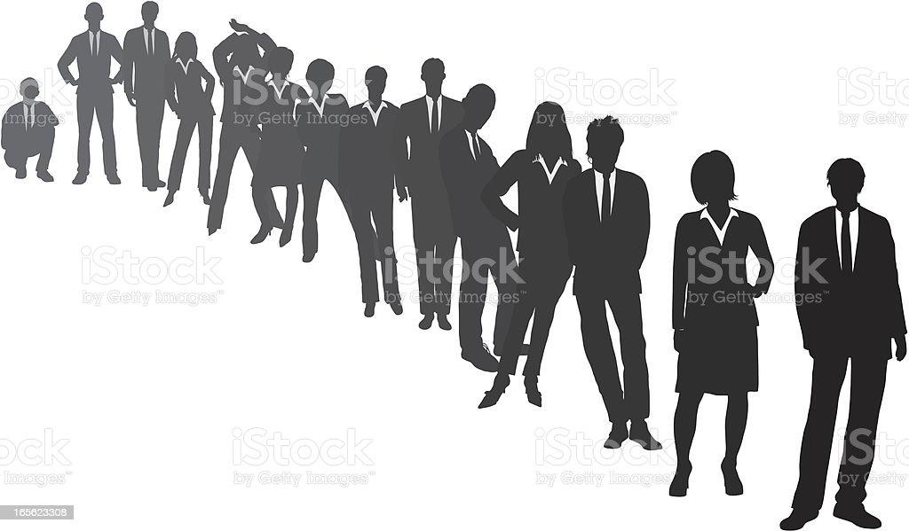 Line of Business People vector art illustration