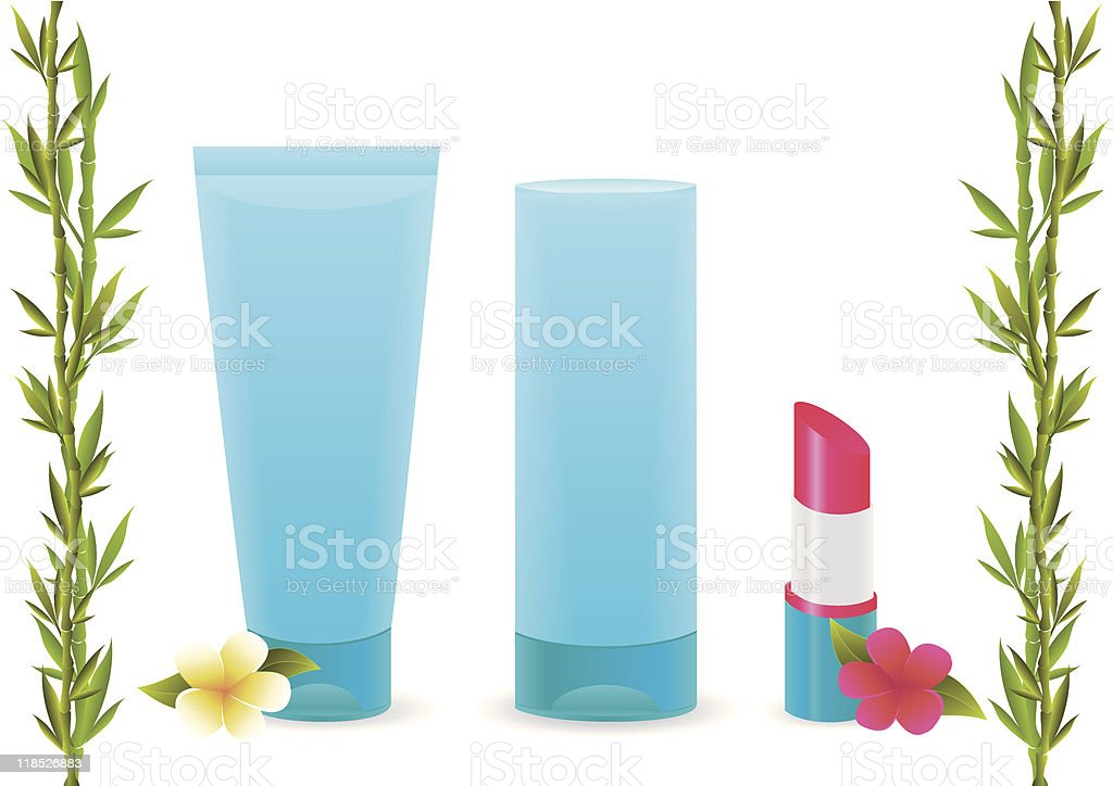 Line Of Cosmetic Products royalty-free stock vector art