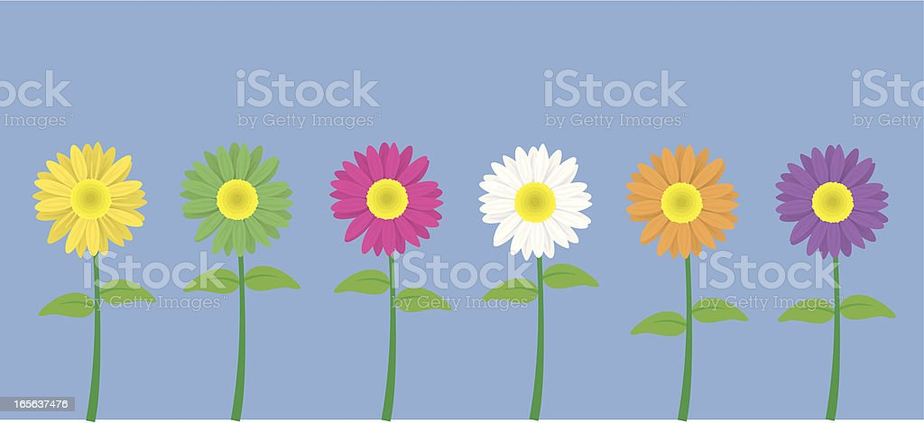 Line of Flowers royalty-free stock vector art