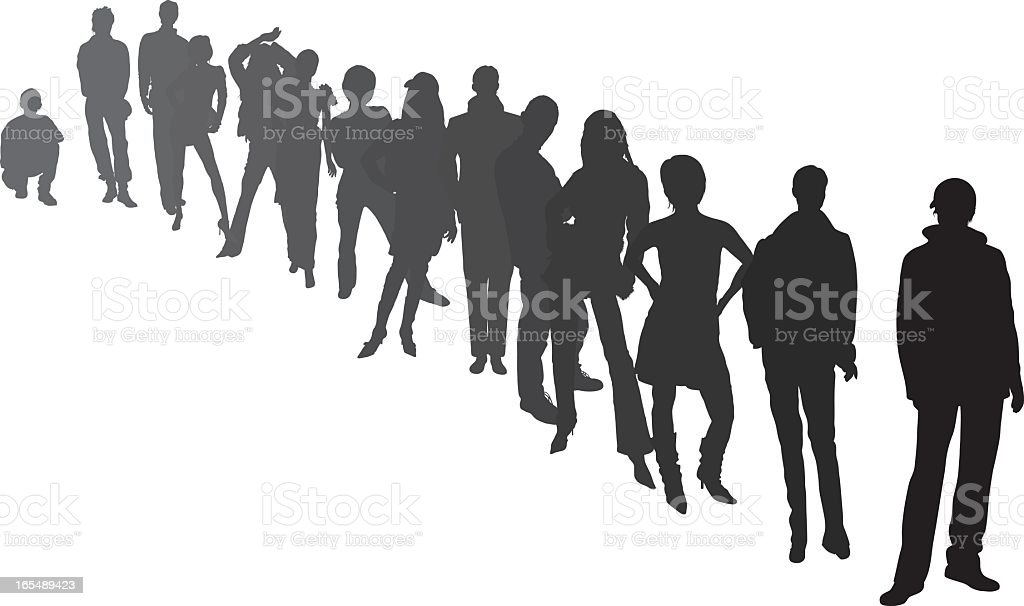Line of People royalty-free stock vector art