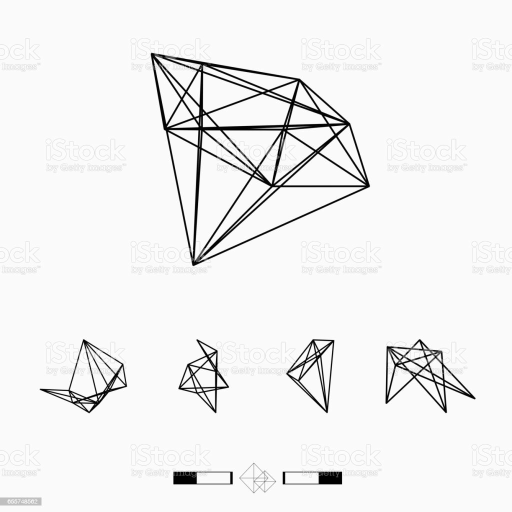 line pattern geometry vector icon vector art illustration