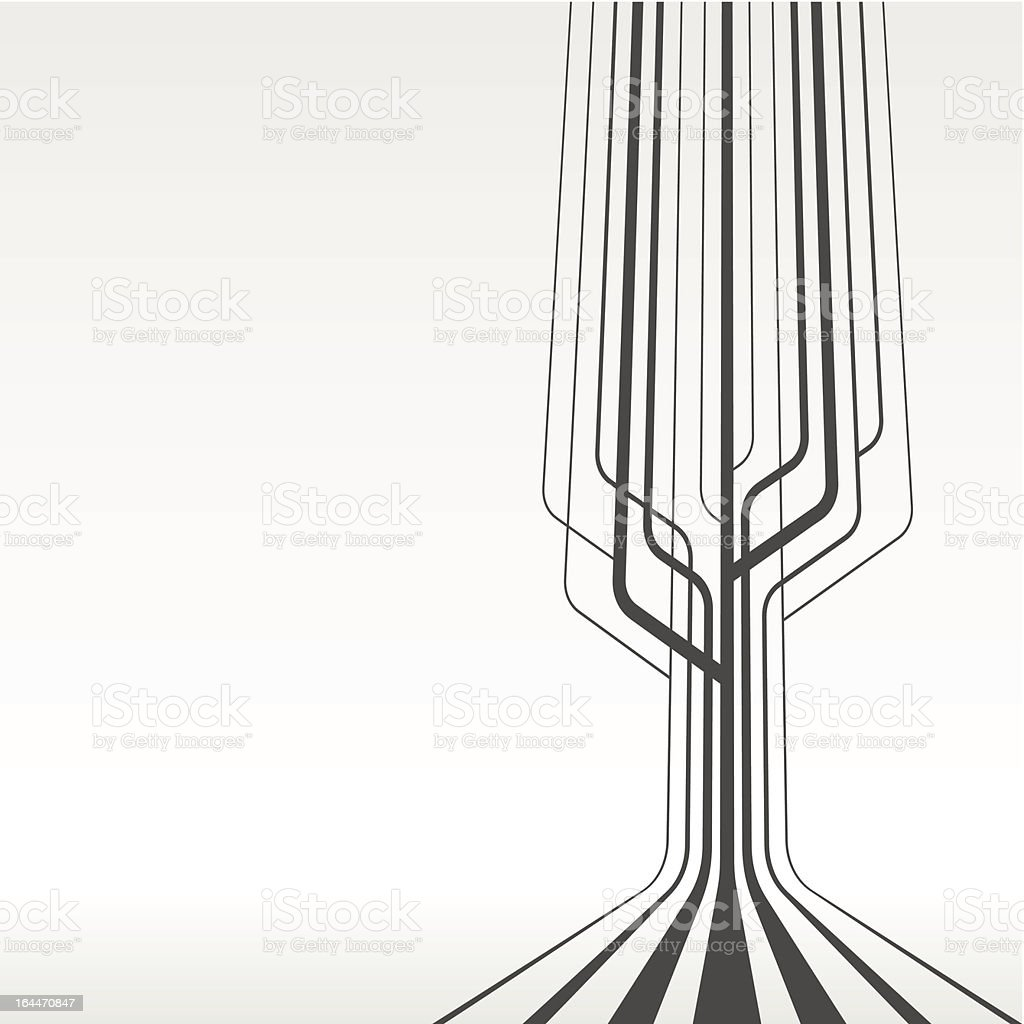 A line pipe like abstract with a cream background royalty-free stock vector art