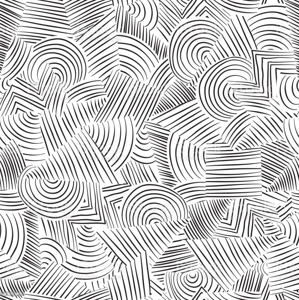 Line Art Floors : Line seamless pattern abstract doodle geometric texture
