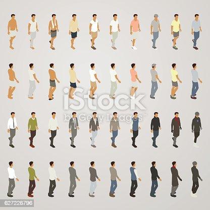 Line sheet men's clothing