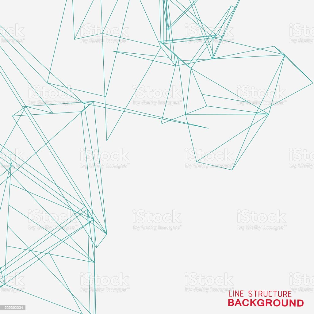 line structure background vector art illustration