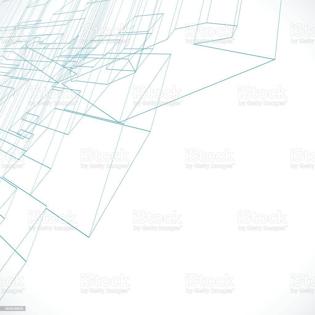 line structure pattern vector art illustration