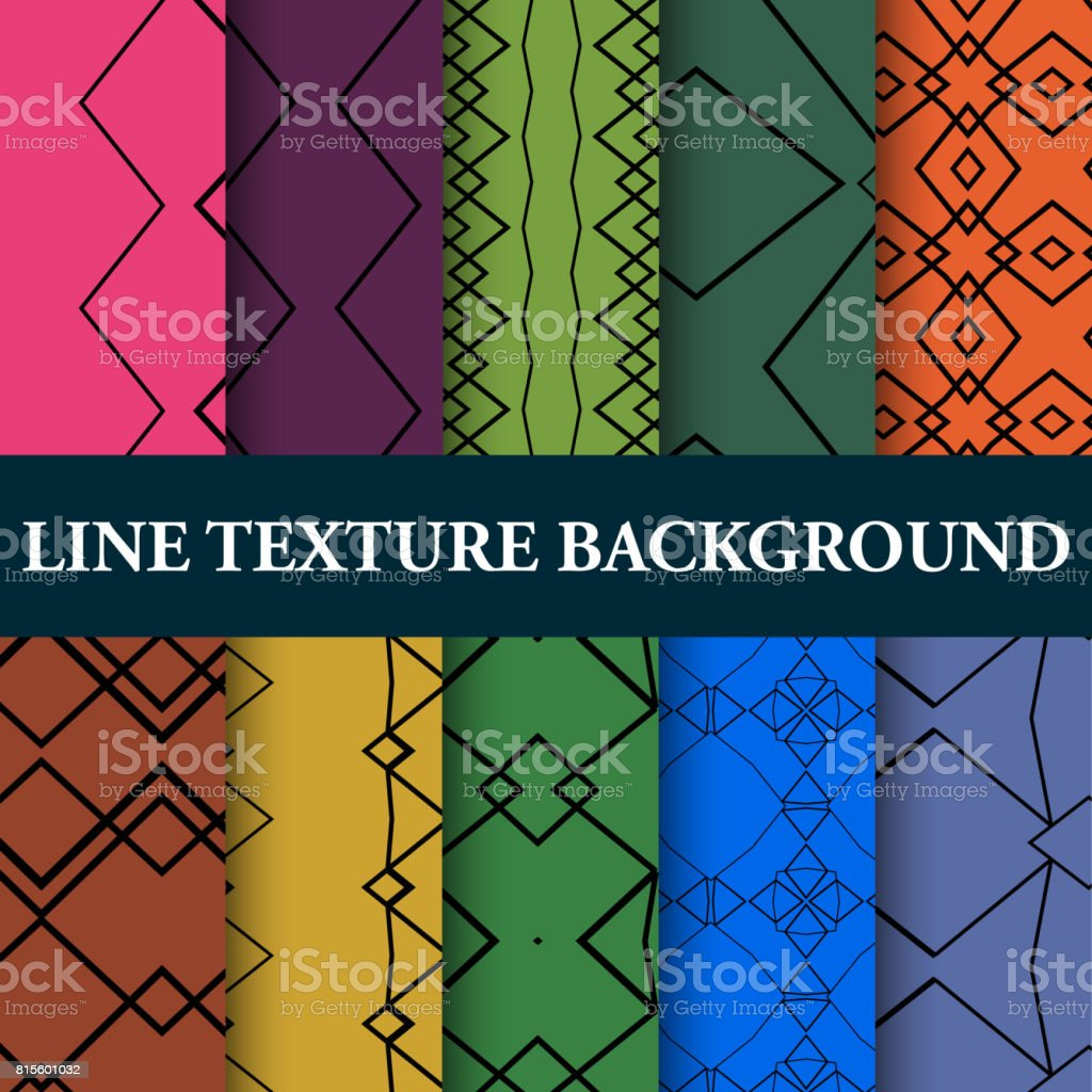 Line Textured Seamless Pattern Collection vector art illustration