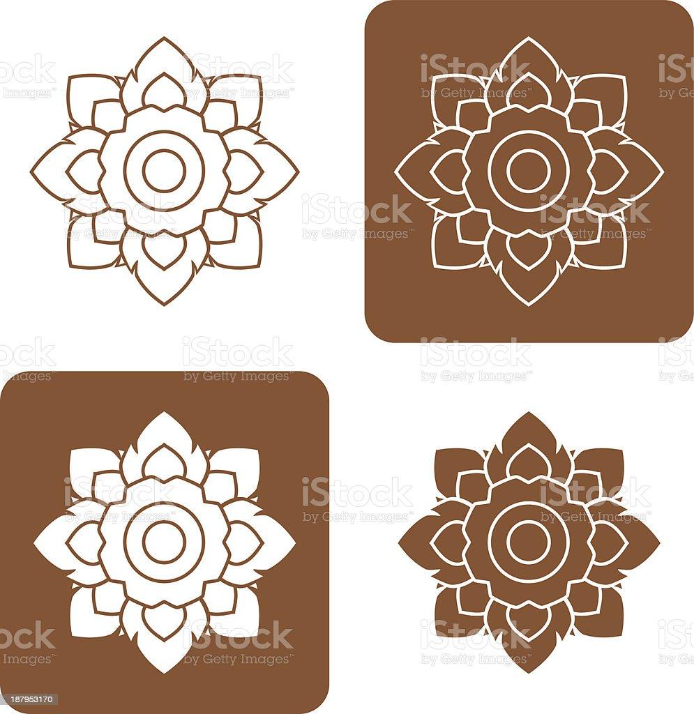Line thai art pattern illustration. royalty-free stock vector art
