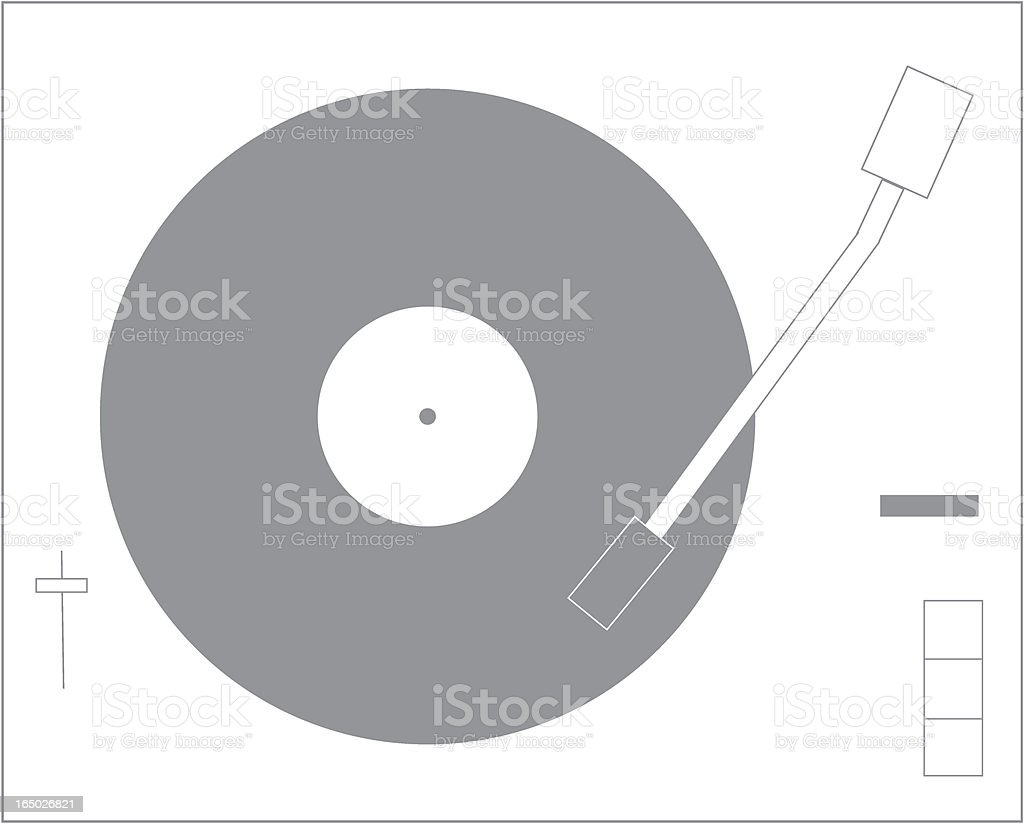 Line Turntable royalty-free stock vector art