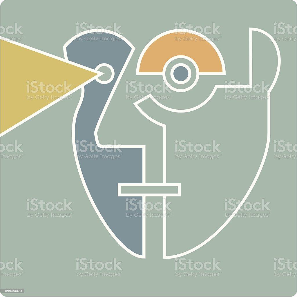 linear guy vector art illustration