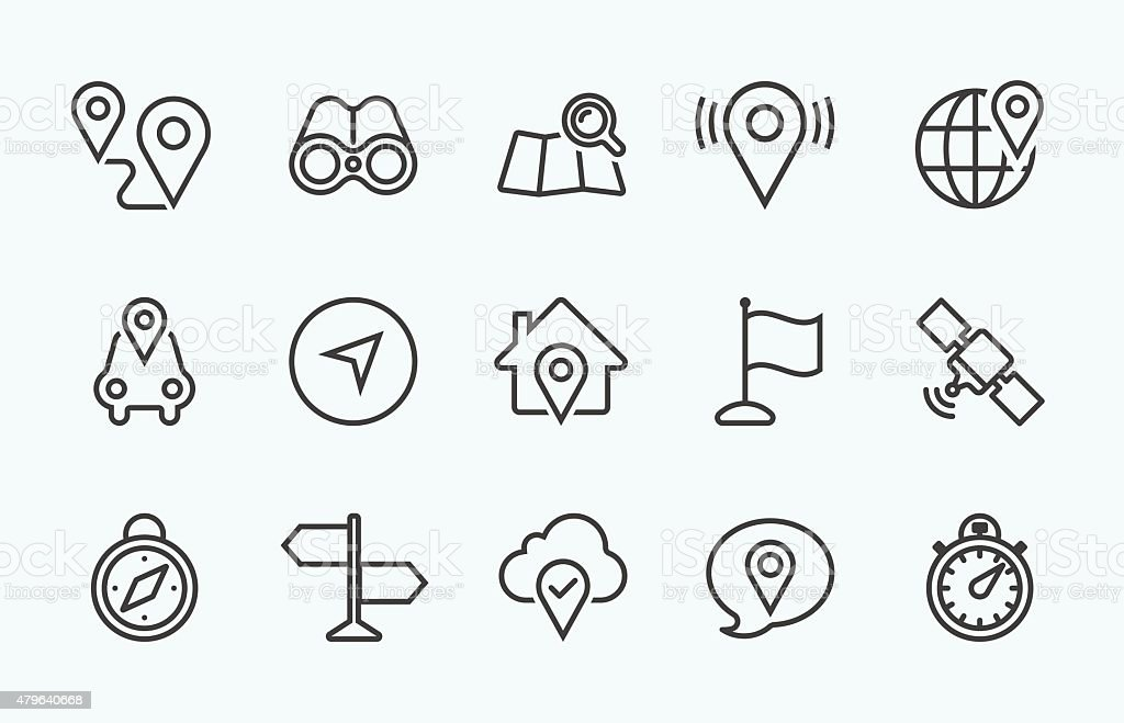 Linear Navigation icon vector art illustration