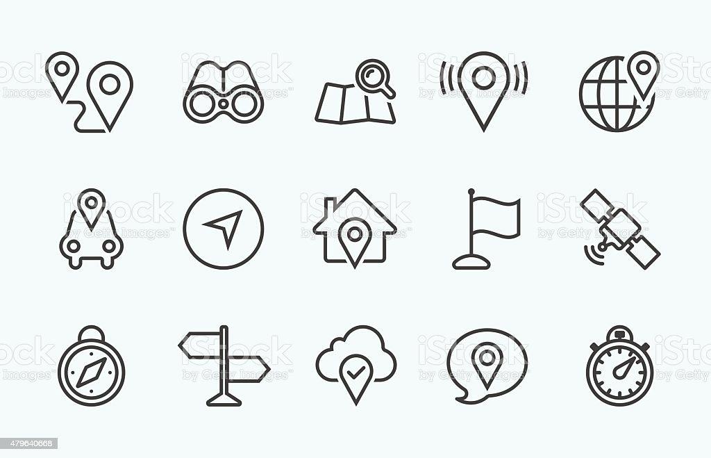 Linear Navigation icon vector art illustration