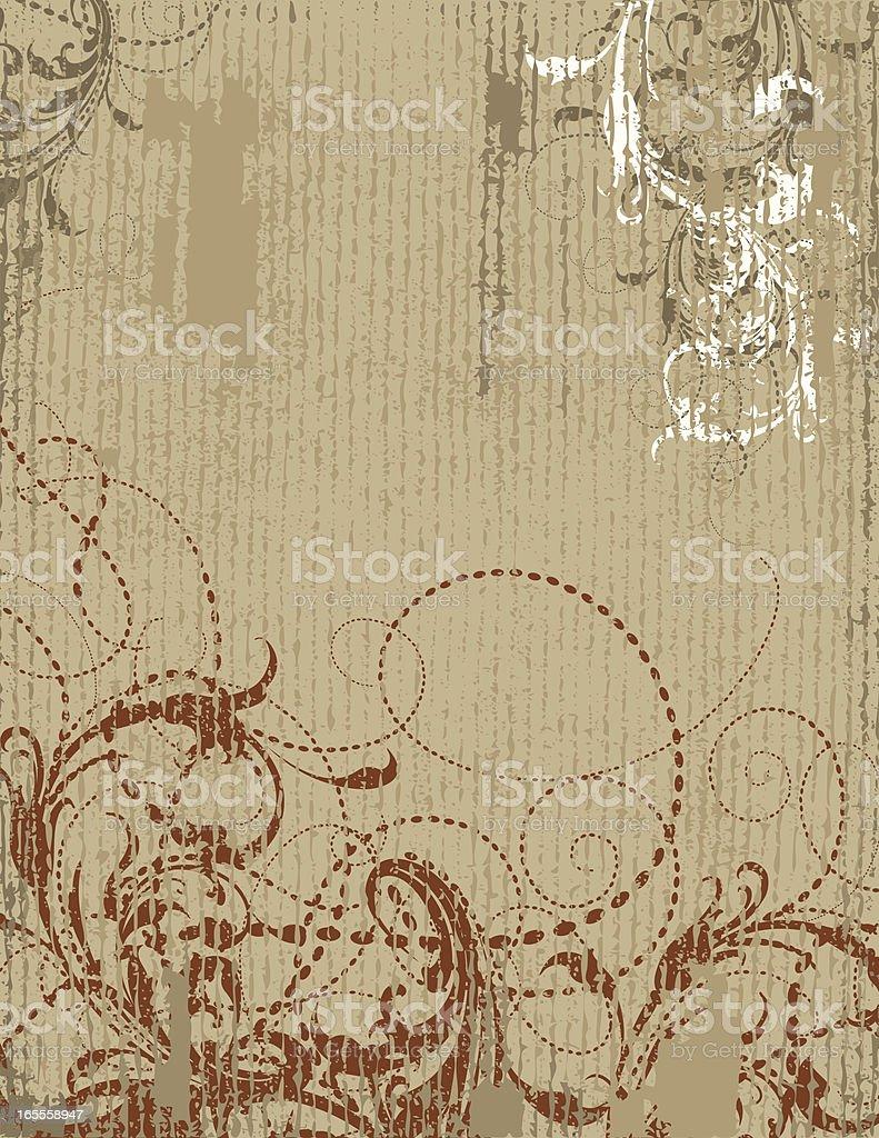 Lined Scroll Banner vector art illustration