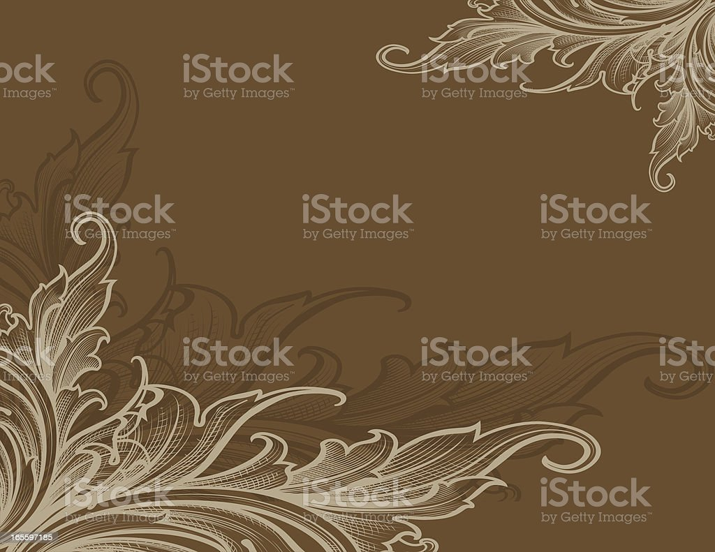 Lined Scroll Page royalty-free stock vector art