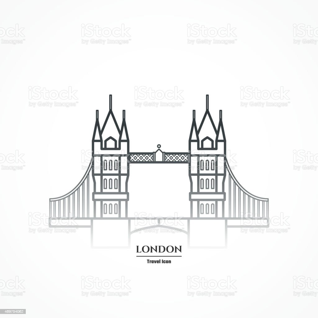 LineIconCountryEngland-09 vector art illustration