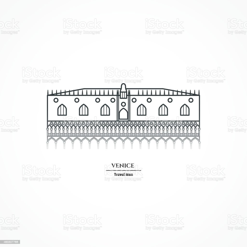 LineIconCountryItaly01 vector art illustration
