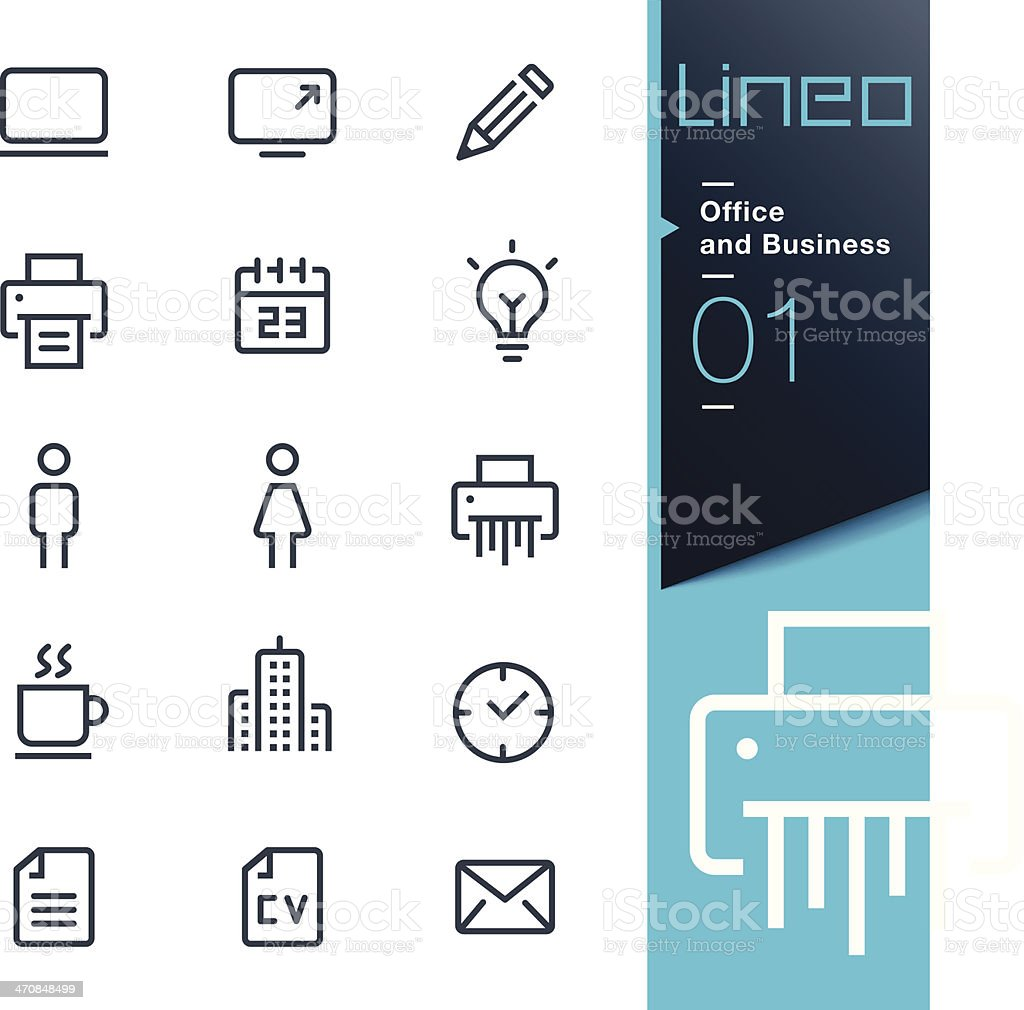 Lineo - Office and Business icons vector art illustration