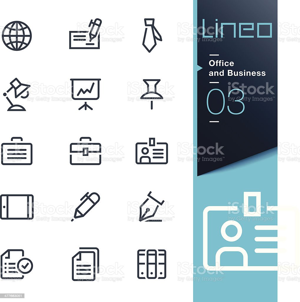 Lineo - Office and Business outline icons royalty-free stock vector art