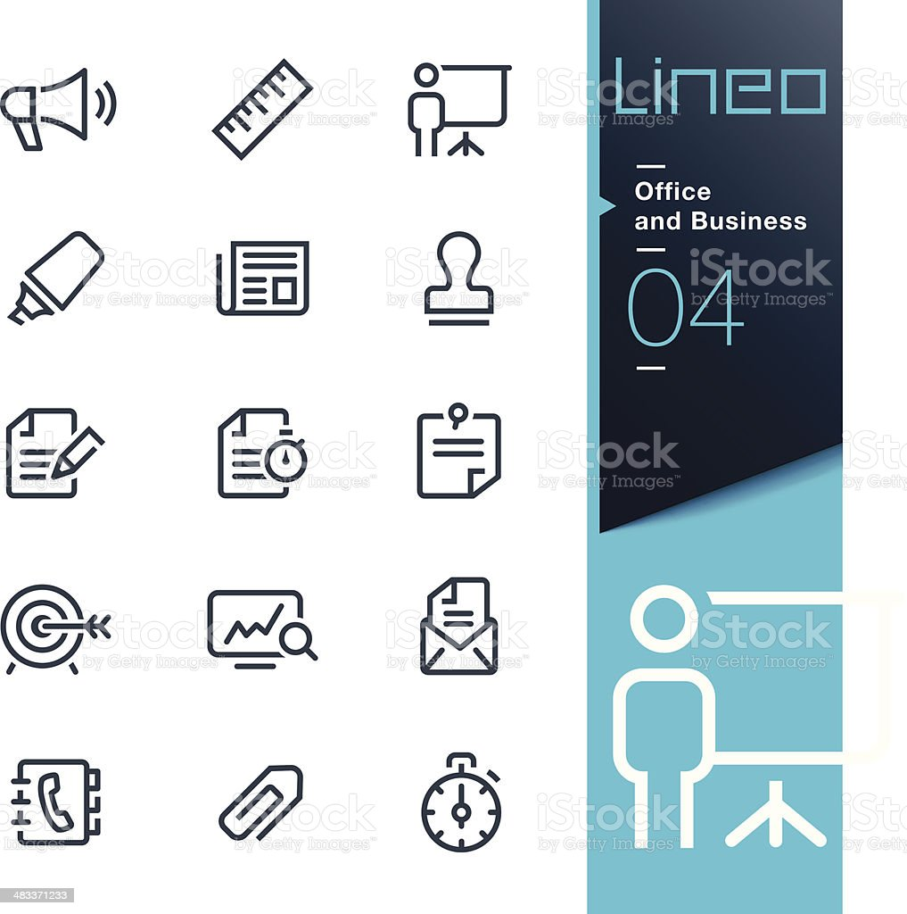 Lineo - Office and Business outline icons vector art illustration