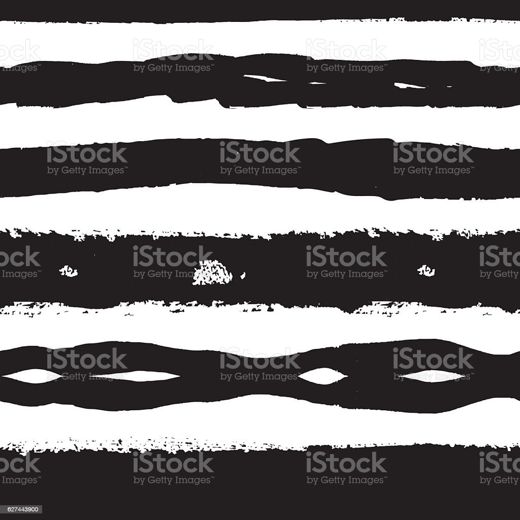 Lines Of Brush Strokes Seamless Pattern vector art illustration