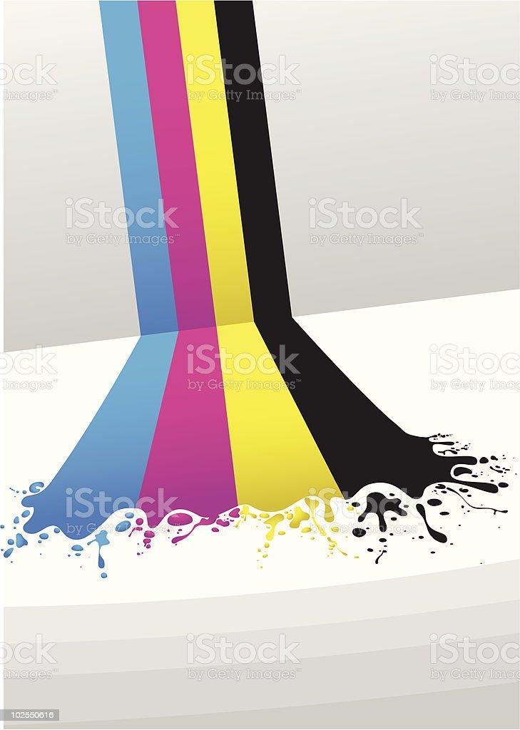 CMYK lines vector art illustration