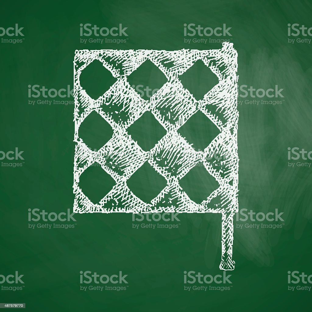 linesman flag icon vector art illustration
