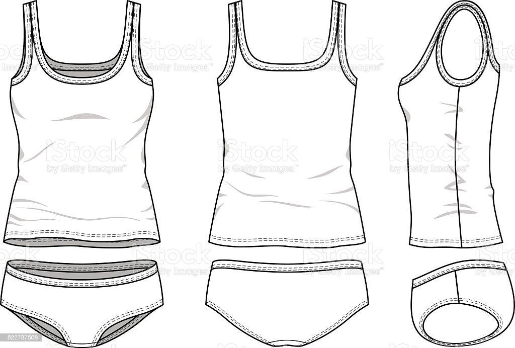 Lingerie set vector art illustration