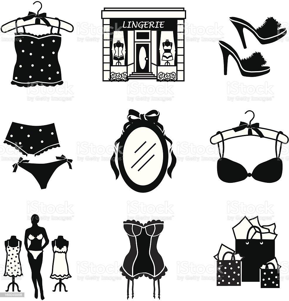 lingerie store royalty-free stock vector art