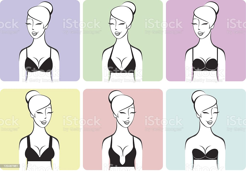 Lingerie vector art illustration