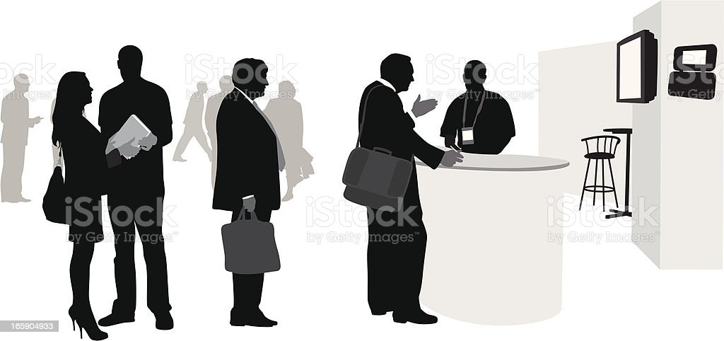 Lining Up Vector Silhouette royalty-free stock vector art