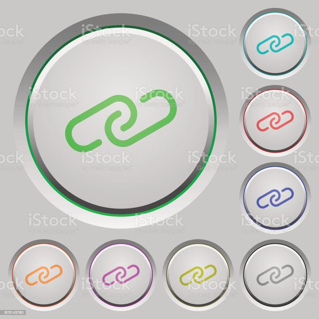 Link push buttons vector art illustration