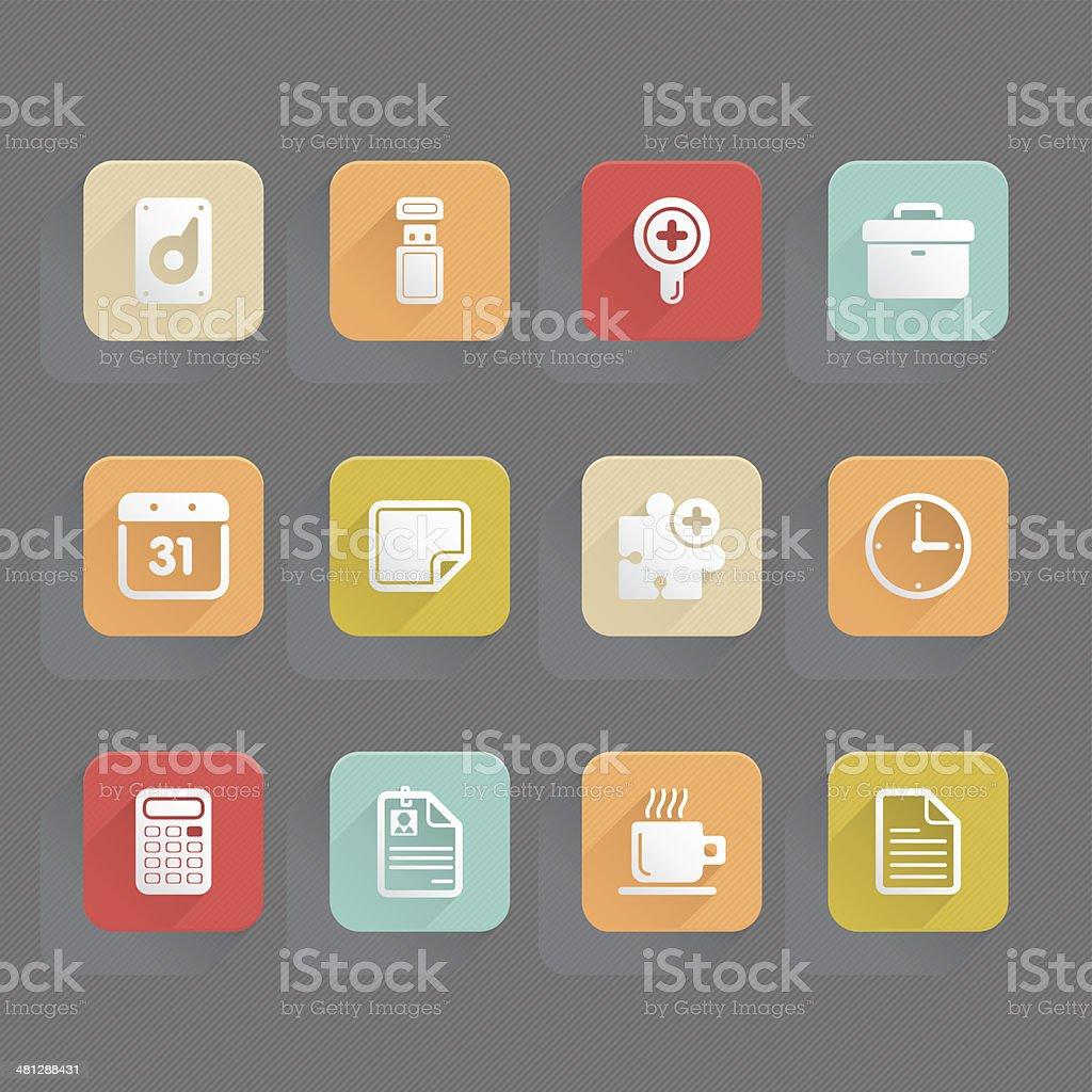 Linned Icons - Office vector art illustration