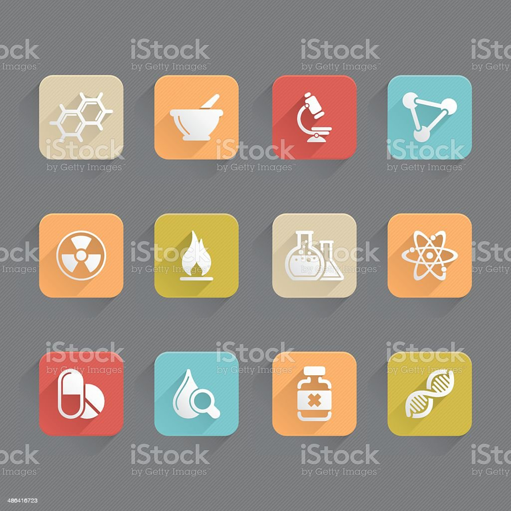 Linned Icons - Science royalty-free stock vector art