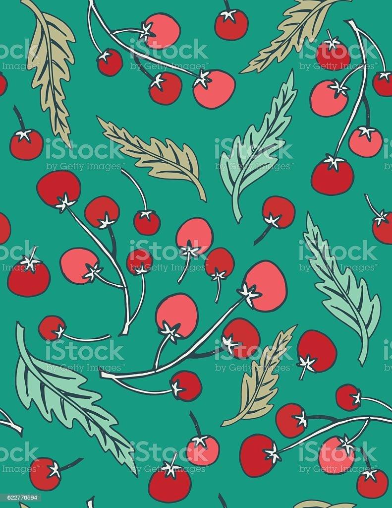 Linoblock Print Of Old Fashioned Vegetables vector art illustration