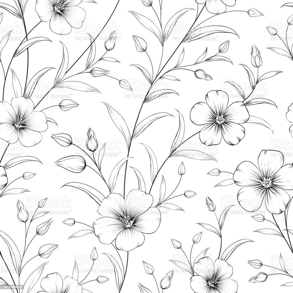 Linum pattern. vector art illustration