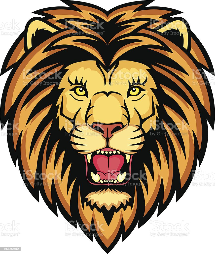 Lion anger royalty-free stock vector art