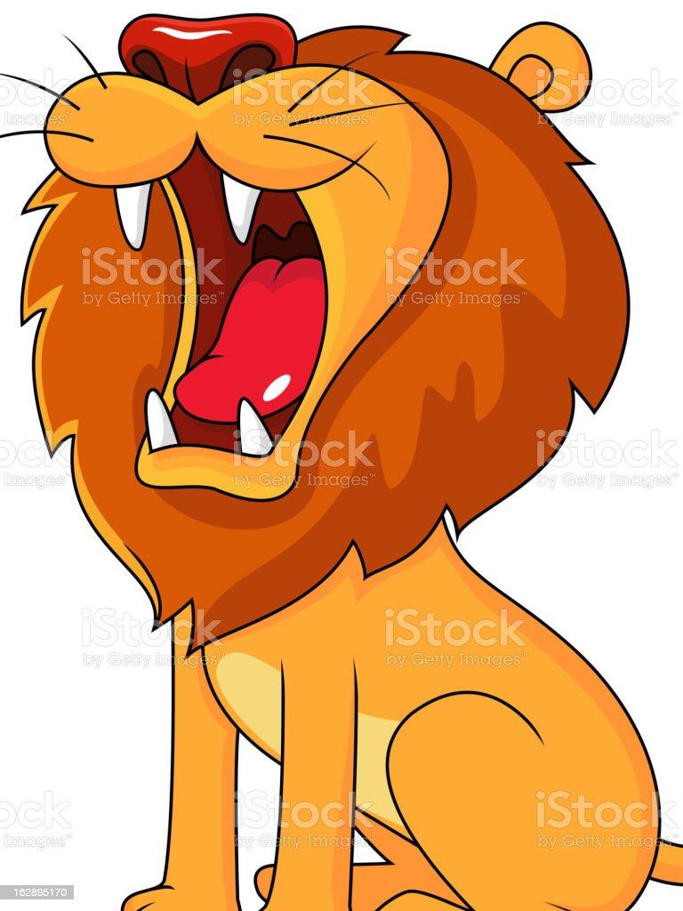 Lion cartoon roaring royalty-free stock vector art