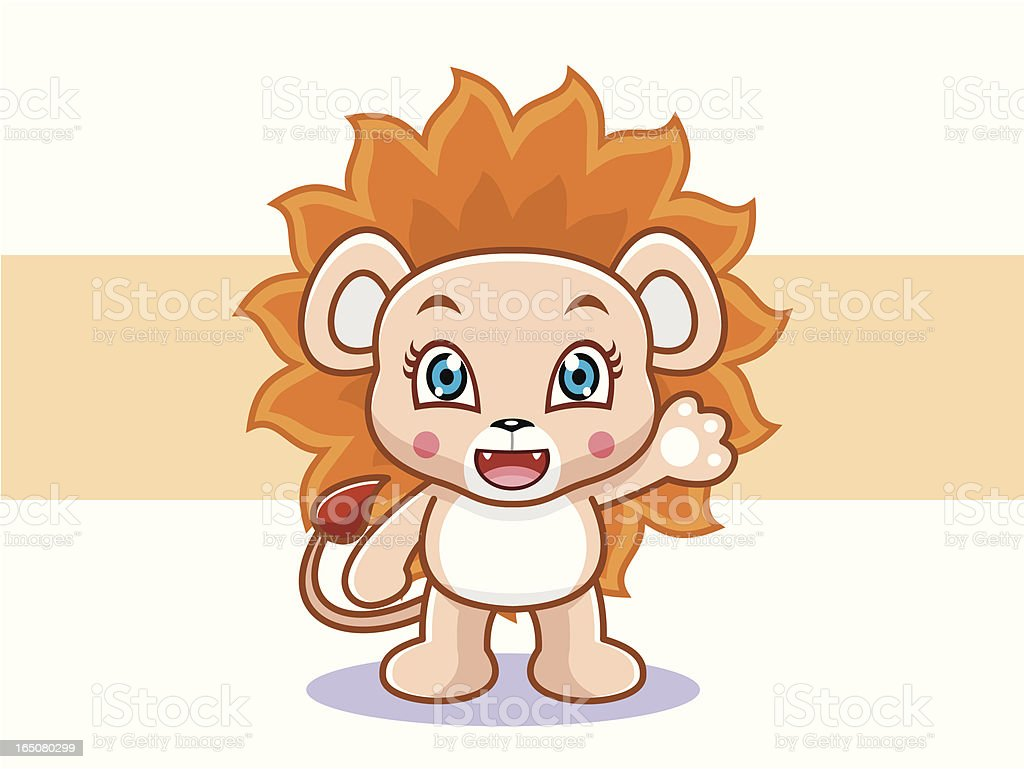 Lion Cartoon royalty-free stock vector art