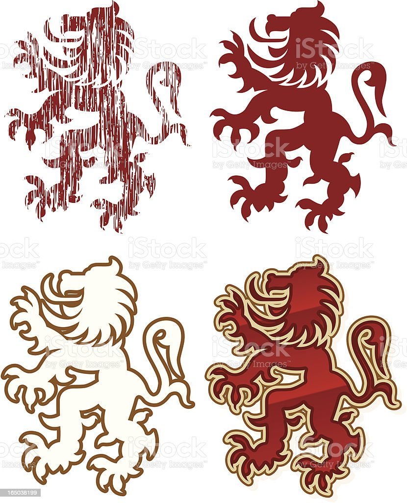Lion Classic royalty-free stock vector art