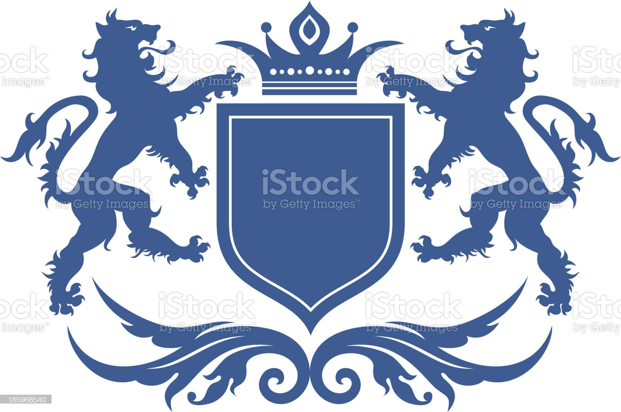Lion crest royalty-free stock vector art