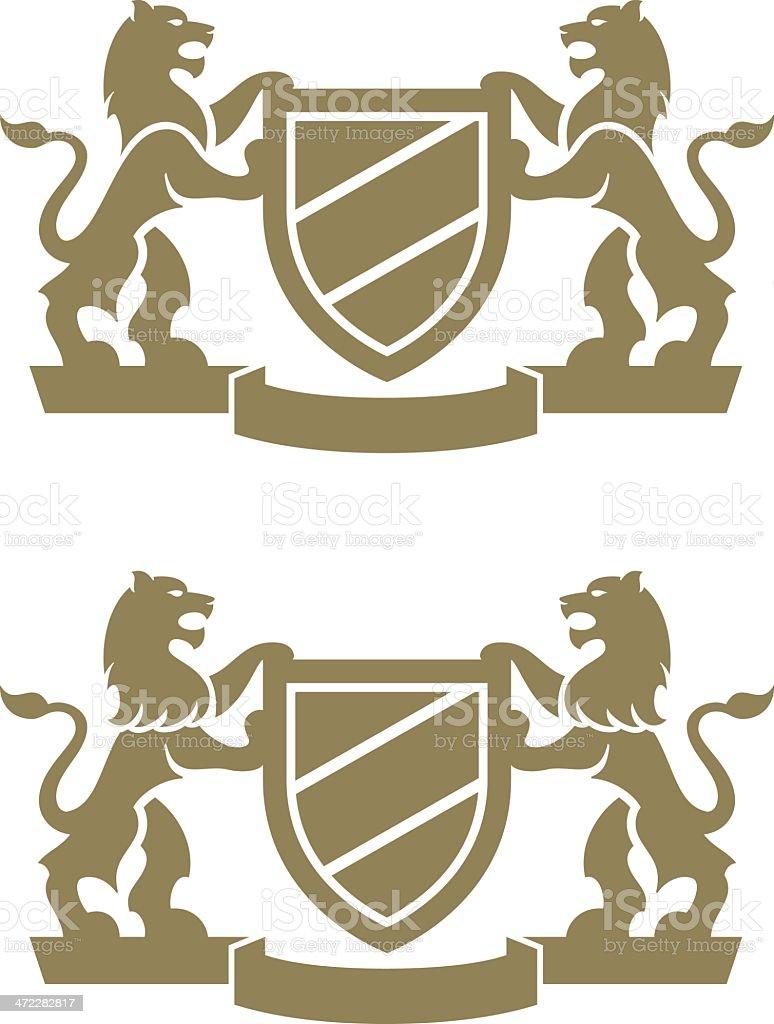 Lion Crest royalty-free stock vector art