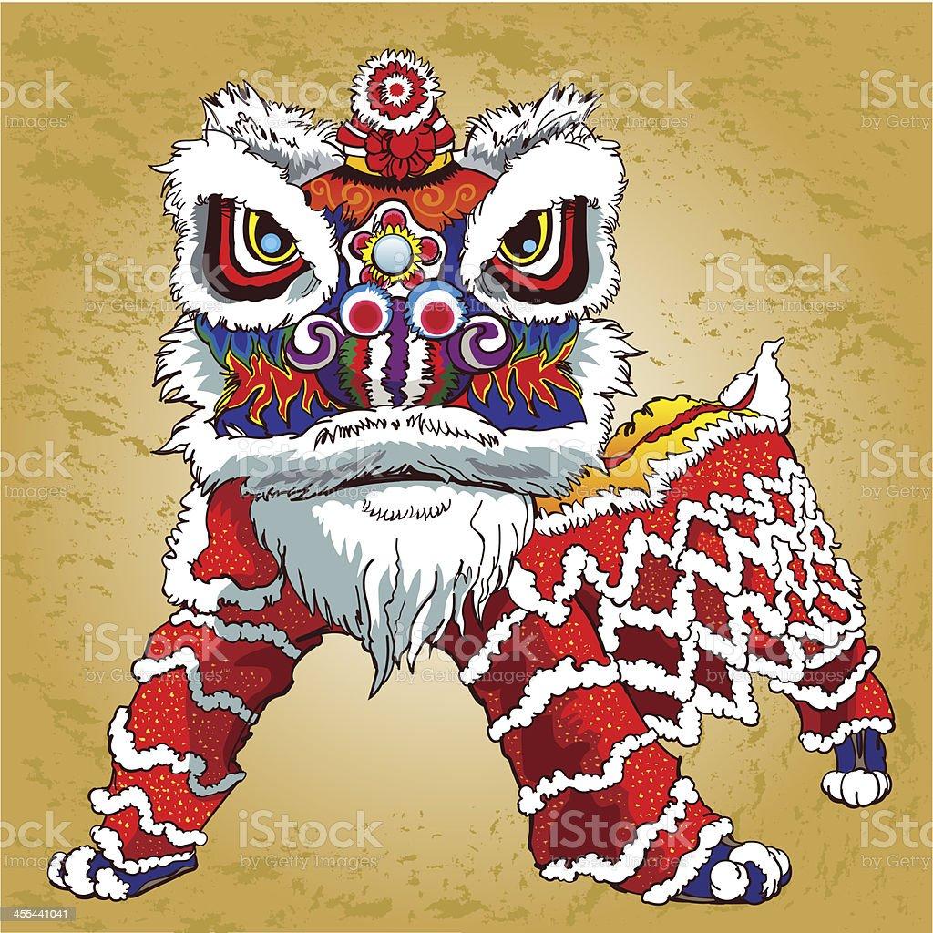 Lion dance royalty-free stock vector art