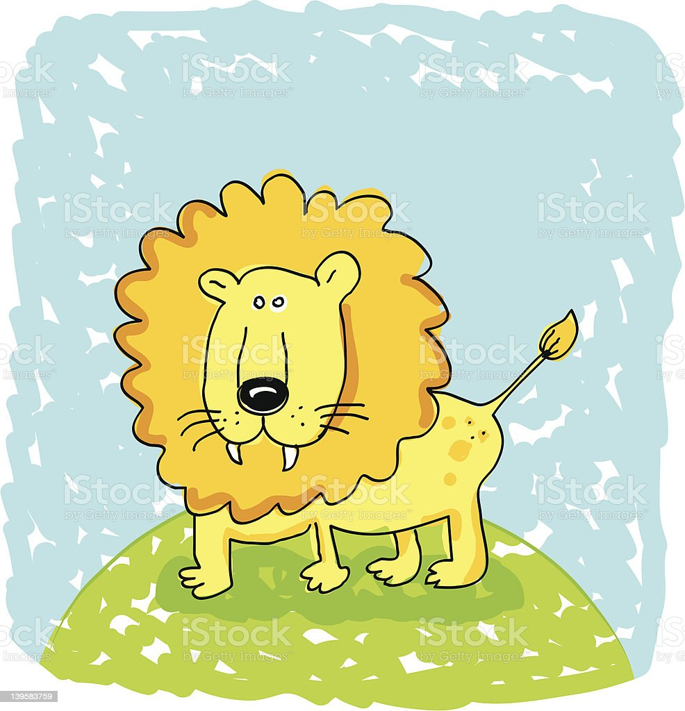 Lion doodle royalty-free stock vector art