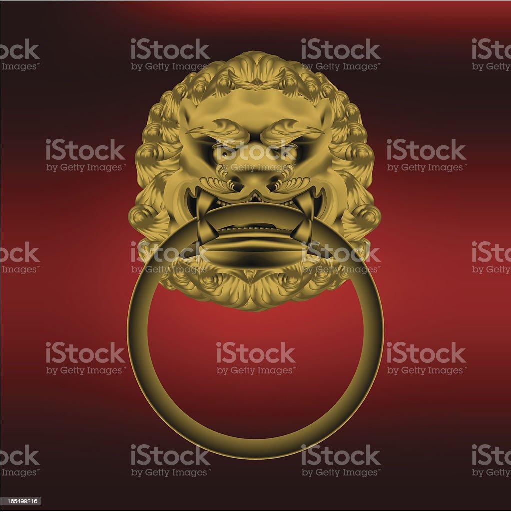 Lion Door Knob royalty-free stock vector art