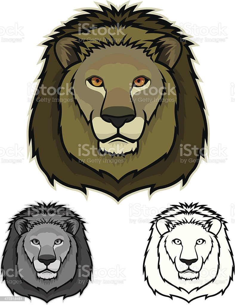 Lion Face royalty-free stock vector art